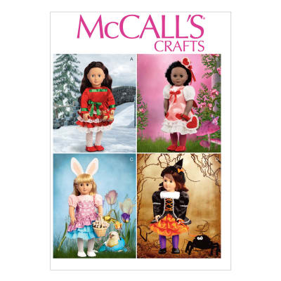 "McCall's Holiday Clothes and Accessories for 18"" Doll Pattern M6805 Size OSZ"