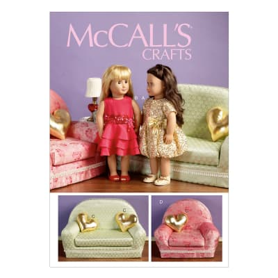 "McCall's Dresses and Shoes For 18"" Doll, and Furniture Pattern M6853 Size OSZ"