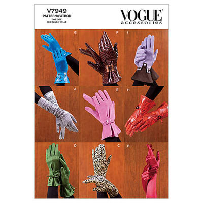 Vogue Misses' Gloves Pattern V7949 Size OSZ