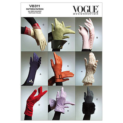 Vogue Gloves Pattern V8311 Size OSZ