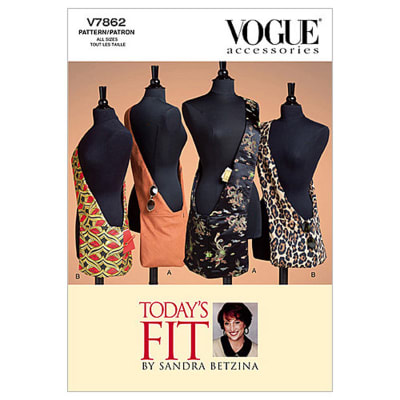 Vogue Shoulder Bag In 2 Sizes Pattern V7862 Size OSZ