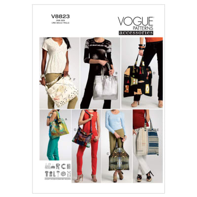 Vogue Bags Pattern V8823 Size OSZ