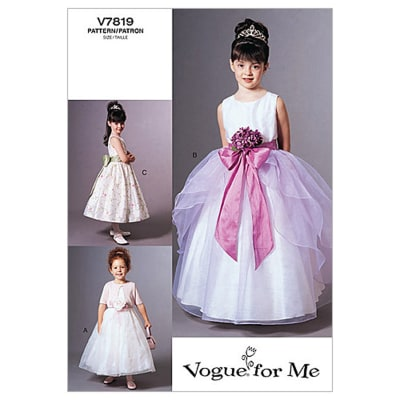 Vogue Children's Jacket and Dress Pattern V7819 Size 020