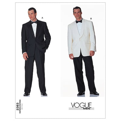 Vogue Men's Jacket & Pants Pattern V2383 Size 320