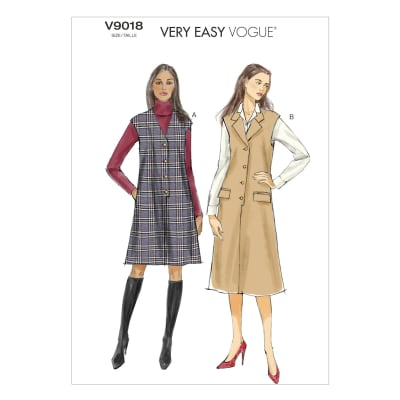 Vogue Misses' Jumper Pattern V9018 Size 0Y0