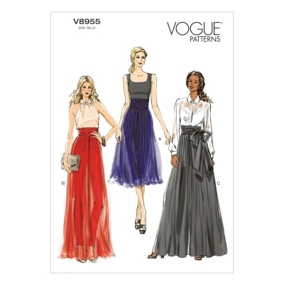 Vogue Misses Pants Pattern V8955 Size A50