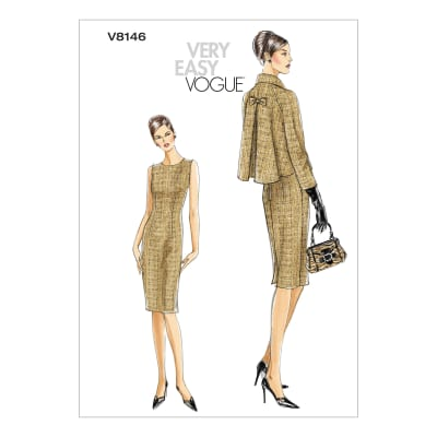Vogue V8146 Misses'/Misses' Petite Jacket and Dress Pattern AA (Sizes 6-12)