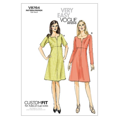 Vogue Misses' Dress Pattern V8764 Size B50