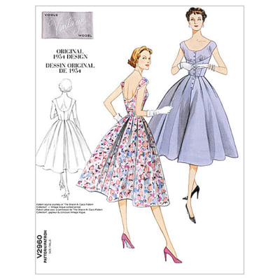 Vogue Misses' Dress Pattern V2960 Size AAX