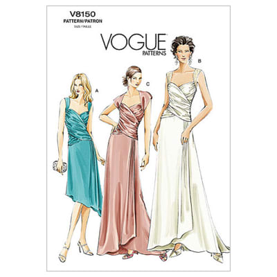 Vogue Misses' Dress Pattern V8150 Size 0A0