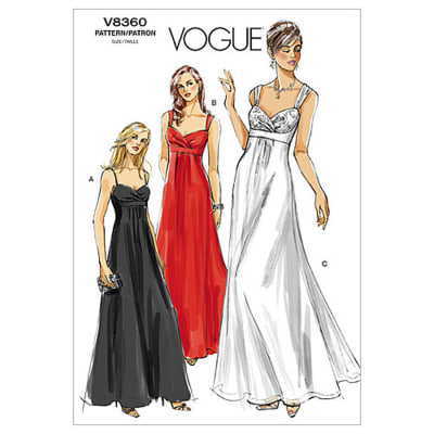 Vogue Misses' Dress Pattern V8360 Size 0A0