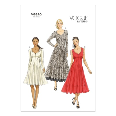 Vogue Misses'/Misses' Petite Dress Pattern V8920 Size 0Y0