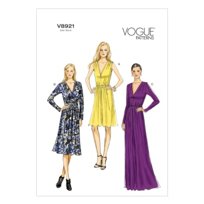 Vogue Misses' Dress Pattern V8921 Size A50