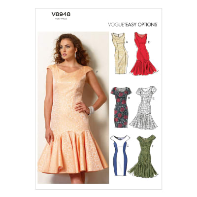Vogue Misses'/Misses' Petite' Dress Pattern V8948 Size AX5