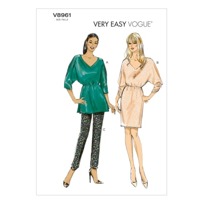 Vogue Misses' Tunic, Dress and Pants Pattern V8961 Size B50