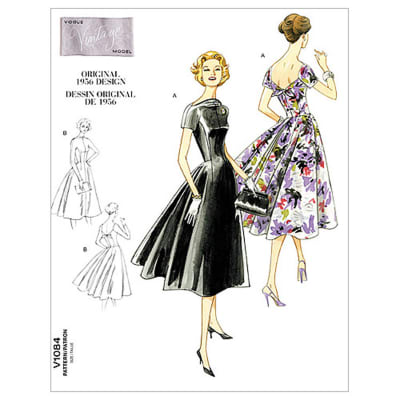 Vogue Misses' Dress Pattern V1084 Size AA0