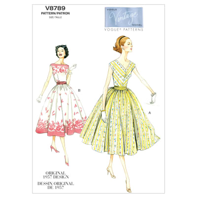 Vogue Misses'/Misses' Petite Dress and Cummerbund Pattern V8789 Size A50