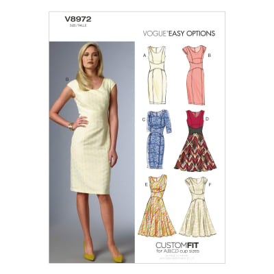 Vogue Misses' Dress Pattern V8972 Size A50