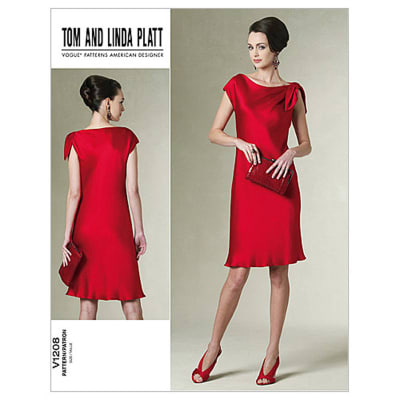 Vogue Misses' /Misses' Petite Dress Pattern V1208 Size AA0