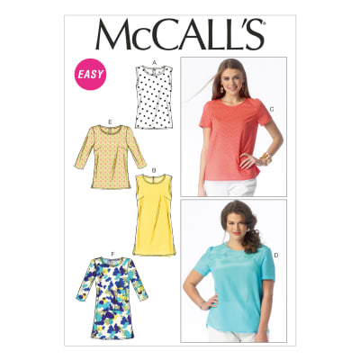 McCall's Misses'/Women's Tops and Tunics Pattern M6927 Size B50