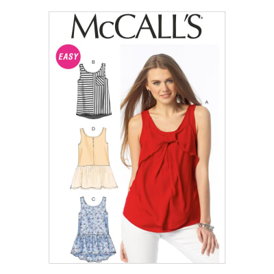 McCall's Misses' Tops and Tunics Pattern M6928 Size 0Y0