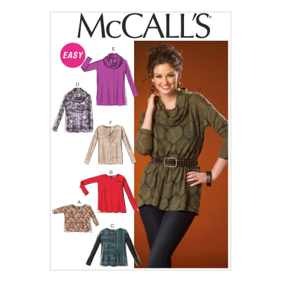 McCall's Misses' Tops and Tunic Pattern M7020 Size 0Y0