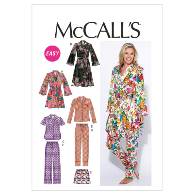 McCall's Misses' Robe, Belt, Tops, Shorts and Pants Pattern M6659 Size B50