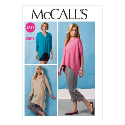 McCall's Misses' Tops, Tunic, Shorts and Pants Pattern M6849 Size 0Y0