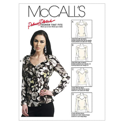 McCall's Misses Tops Pattern M6399 Size B50