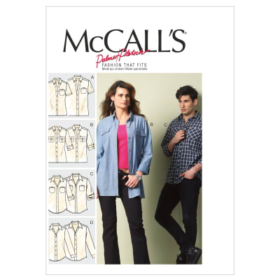 McCall's Misses'/Men's Shirts Pattern M6613 Size XM0