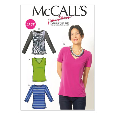 McCall's Misses' Tops Pattern M6964 Size B50