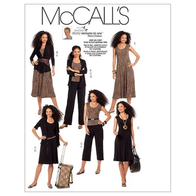 McCall's Misses' Jackets, Top, Dresses and Pants In 2 Lengths Pattern M5890 Size A50