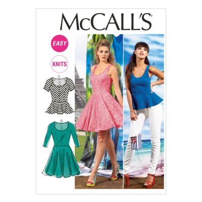 McCall's Misses' Tops and Dresses Pattern M6754 Size 0Y0