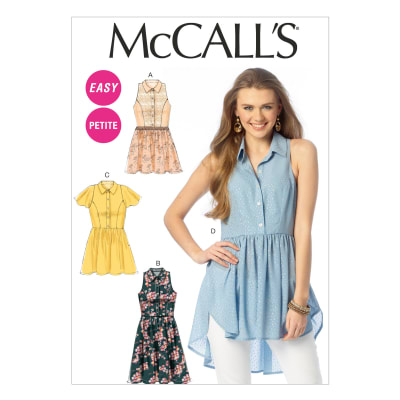 McCall's Misses'/Miss Petite Tops, Tunic and Dresses Pattern M6925 Size A50