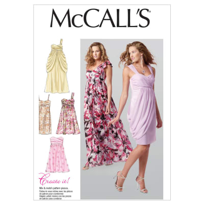 McCall's Misses' Lined Dresses Pattern M6508 Size AX5