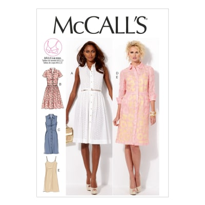 McCall's Misses' Dresses and Slip Pattern M6696 Size B50