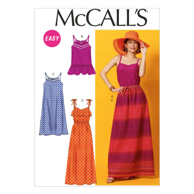 McCall's Misses' Top, Tunic, Dresses and Skirt Pattern M6967 Size A50