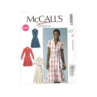 McCall's Misses' Dresses and Sash Pattern M6891 Size B50