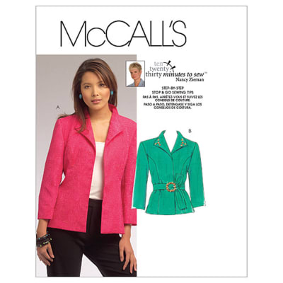 McCall's Misses' Jackets Pattern M5668 Size MIS
