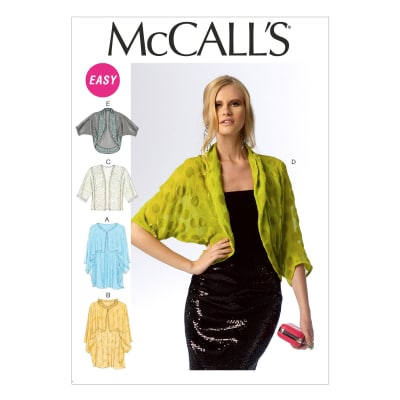 McCall's Misses' Wraps and Jackets Pattern M6845 Size 0Y0