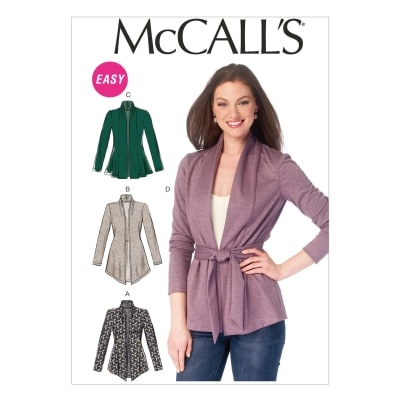 McCall's Misses' Jackets and Belt Pattern M6996 Size 0Y0