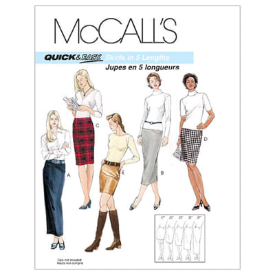 McCall's Misses' Skirts In 5 Lengths Pattern M3830 Size AA0