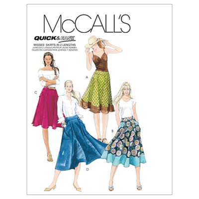 McCall's Misses' Skirts In 2 Lengths Pattern M5431 Size A50