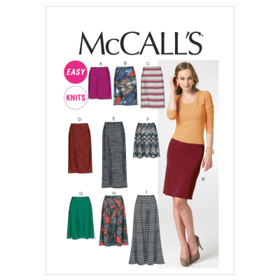 McCall's M6654 Misses' Skirts In 7 Lengths Pattern A5 (Sizes 6-14)