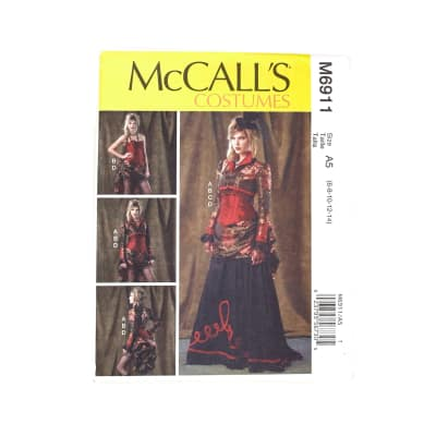 McCall's Misses' Bolero, Corset, Skirt and Overskirt Pattern M6911 Size A50