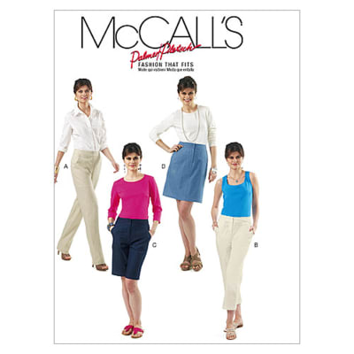 McCall's Misses' Skirt, Shorts and Pants In 2 Lengths Pattern M6361 Size B50