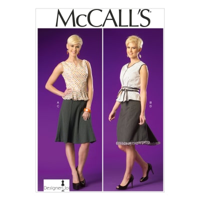 McCall's Misses' Tops, Belt and Skirts Pattern M7017 Size A50