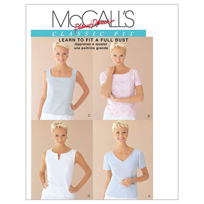McCall's Misses' Tops Pattern M2818 Size 0B0