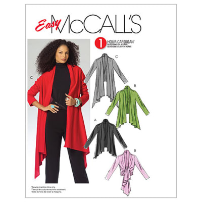 McCall's Misses' Cardigan In 3 Lengths Pattern M5241 Size 0Y0