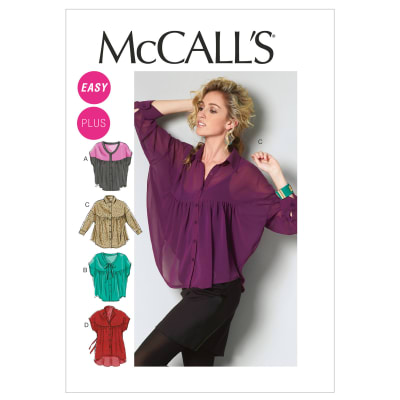 McCall's Misses'/Women's Tops and Tunic Pattern M6605 Size B50